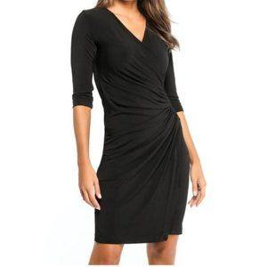 Anatomie Travel Stretch Ruched Black Dress